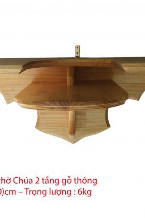 Kệ bàn thờ chúa 2 tầng 30x60cm - KBT05