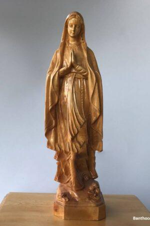 Tượng đức mẹ lộ đức 50cm bằng gỗ